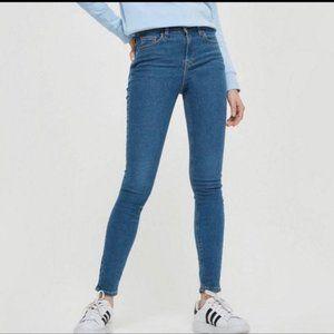 TOPSHOP Size 30/32  Moto Skinny Jeans